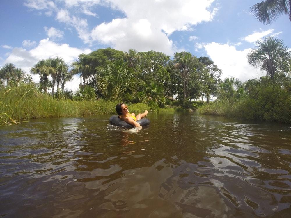Flutuação no Rio Preguiças