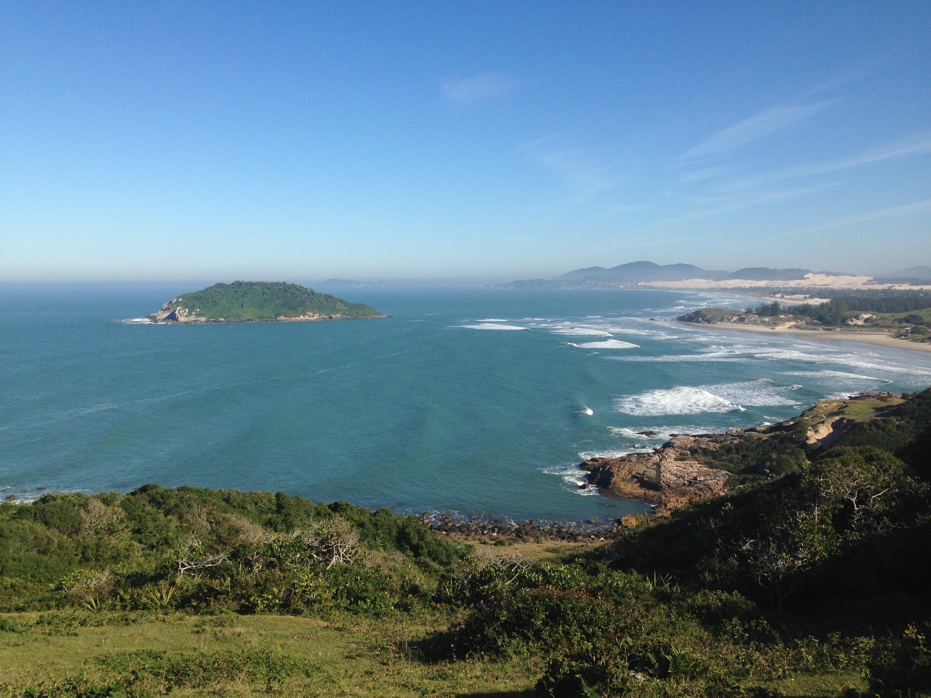 Praia do Luz vista do Alto da trilha