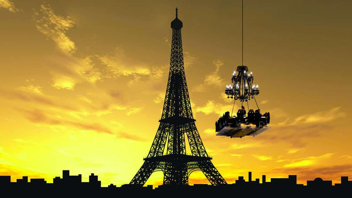"""Dinner in the sky"" em Paris"