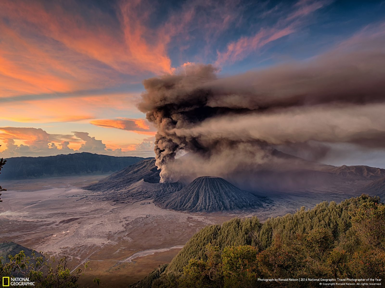 Mt. Bromo Sunrise Eruption