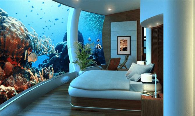 Quarto em Poseidon Undersea Resort