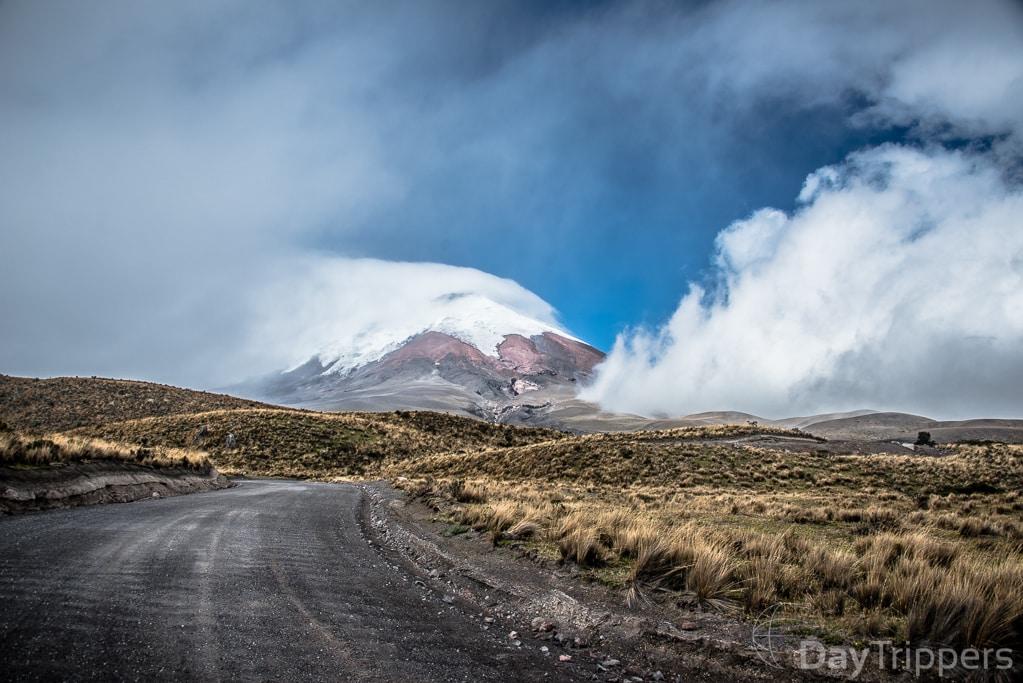 Estrada para o Vulcão Cotopaxi. Foto: DayTrippers.