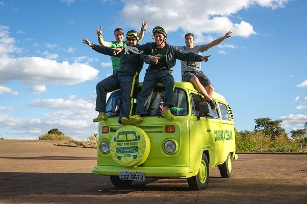 A equipe do Road Trip to Rio