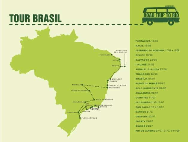 O tour pelo Brasil