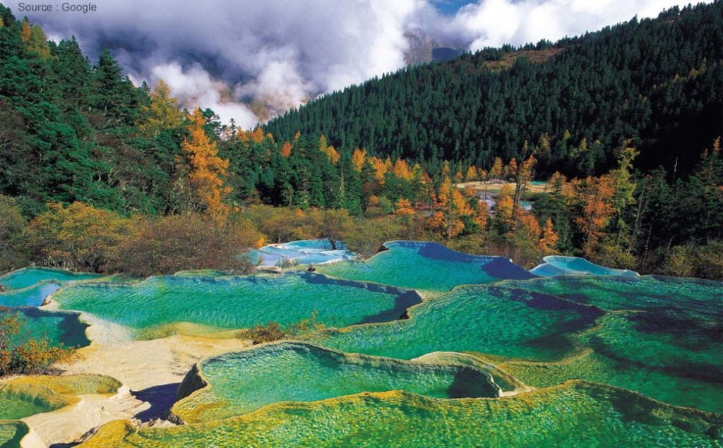 Huanglong Scenic Valley. Foto via