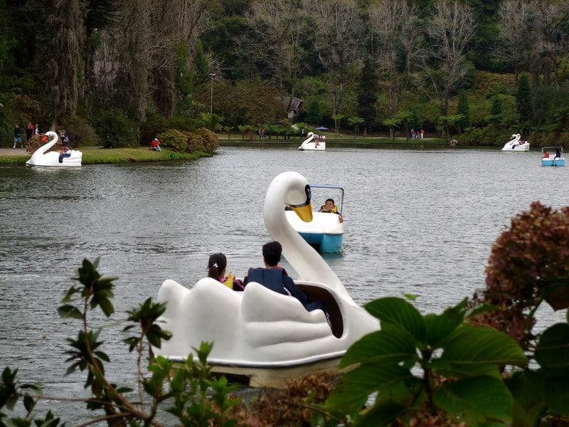 Pedalinho no Lago Negro em Gramado