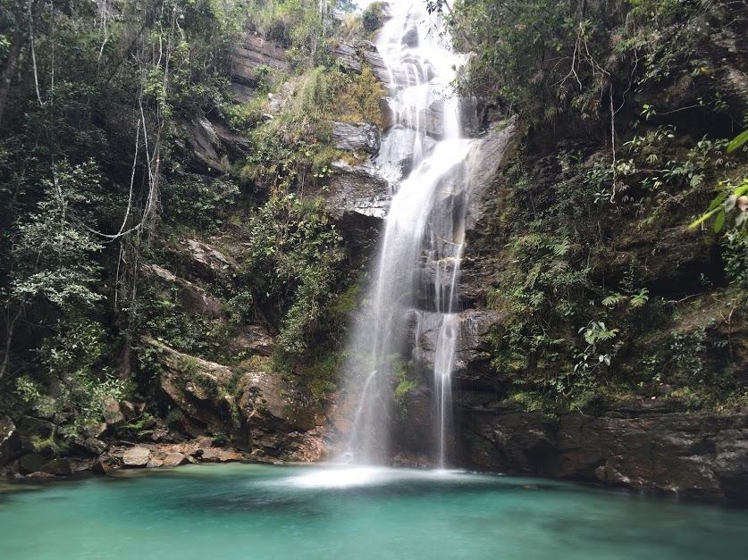 Cachoeira de Santa Bárbara em Cavalcante