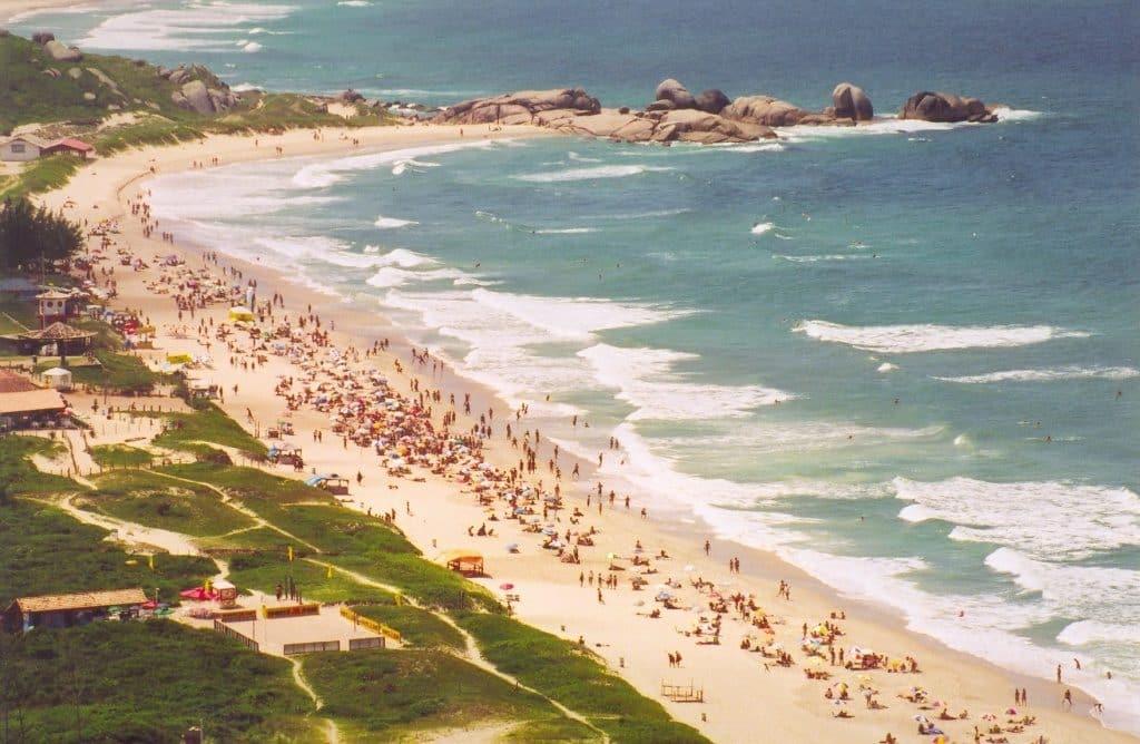 Praia mole em Florianópolis